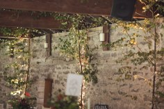 barn wedding autumn trees uplighters fairy lights dewsal court woodland styling design event