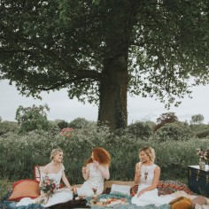 Bohemian Otaduy Dress Wedding Inspiration Shoot Flowers Picnic Vintage China Outdoor Party Rich Colours Verdigris Event Design Styling Decorations Decor Hambledon House Marie Marry Me