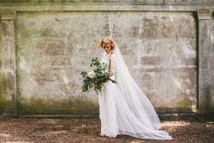 Bones Flowers Cemetery Wedding Jessica Charleston Dress white inspiration taxidermy event design decoration