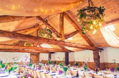 Colourful Wedding inspiration butterflies chandelier lighting jam jars barn rustic garden magical event design styling Verdigris colorful