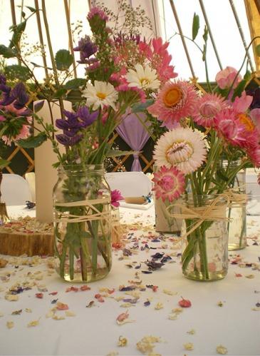 Lilac Drapes Floral Chandelier Fairy Lights Rustic Hazel Arches Log Rounds Church Candles Country Wild Flowers Jam Jars Petal Confetti Raffia Verdigris Event Design Styling Wedding Inspiration