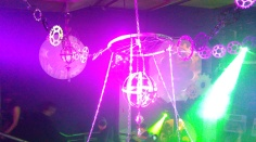 Steam Punk Club Night, Lighting, Projections, Cogs, Chains, Chandeliers, Fairy Lights, Netting, Lakota, Bristol, Boomtown 2