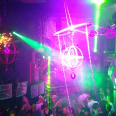 Steam Punk Club Night, Lighting, Projections, Cogs, Chains, Chandeliers, Fairy Lights, Netting, Lakota, Bristol, Boomtown 3