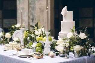 Verdigris Bones Flowers Taxidermy fruit flowers tablescape table design wedding styling inspiration shoot Arnos Vale