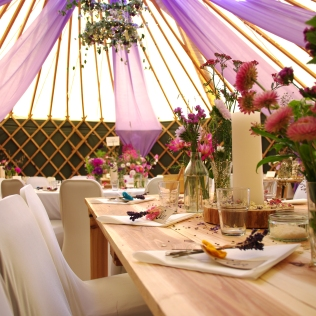 Verdigris_lilac-purple-fabric-drapes_yurt_tent-wedding_country-garden-theme