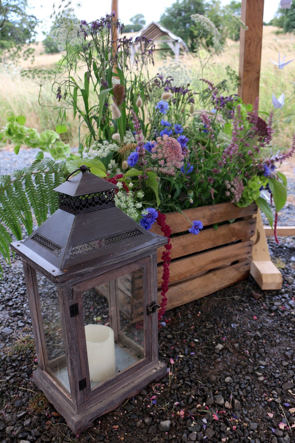 Ceremony Lantern and Flower Crate